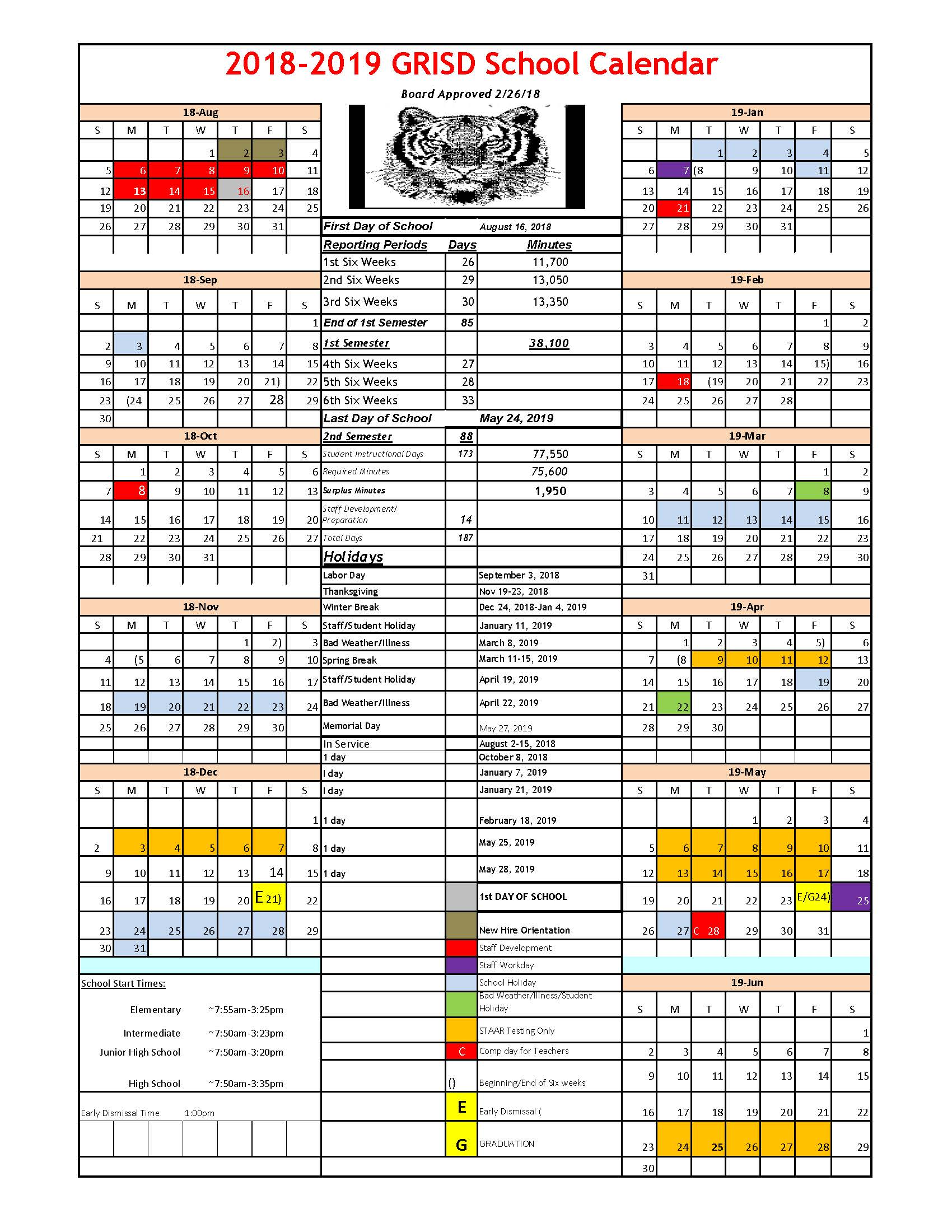 School Calendar 2018 : School board approves  calendar glen