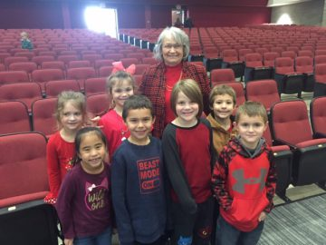 Mrs. Wasilchak with students at FWSO performance