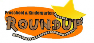 Pre-K and Kinder Roundup logo, star and rope