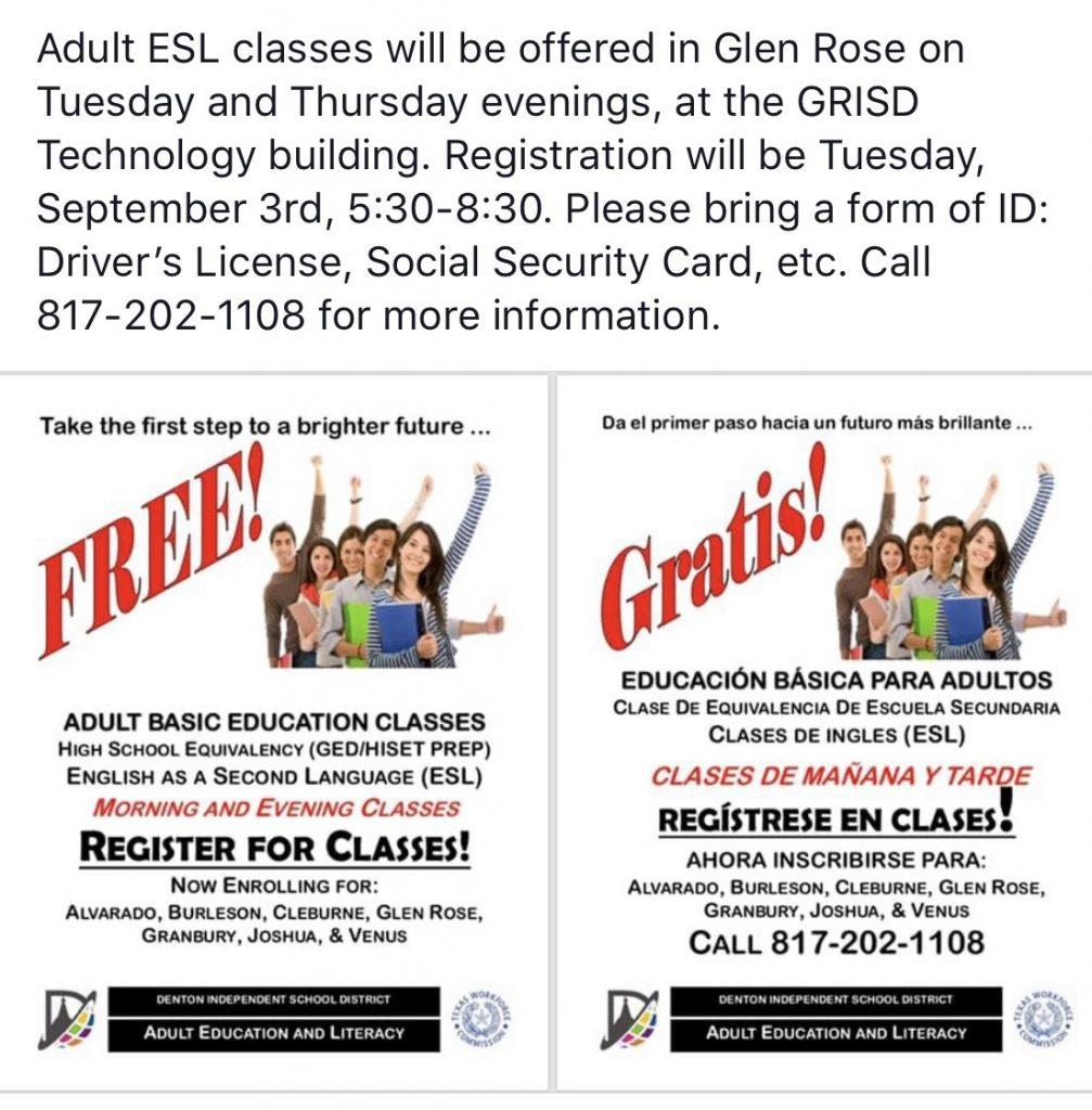 Adult Education – Glen Rose ISD