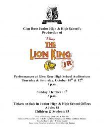 The Lion King Jr poster