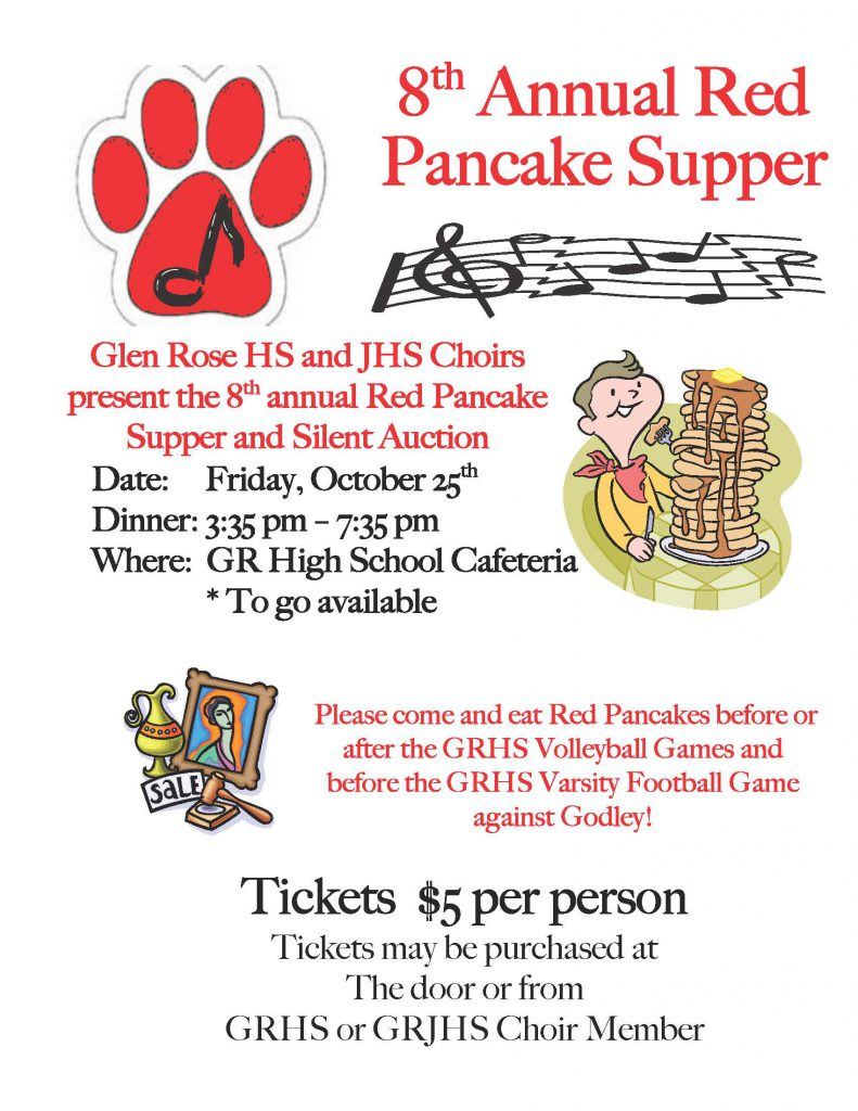 2019-20 8th Annual Red Pancake Supper Flyer