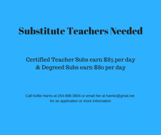 Substitute Teachers Needed Flyer