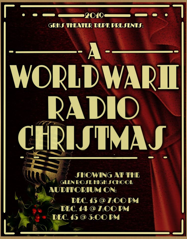 Flyer for World War II Radio Christmas presentation