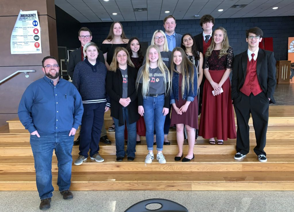 Picture of GRHS Choir students and Mr. Teal