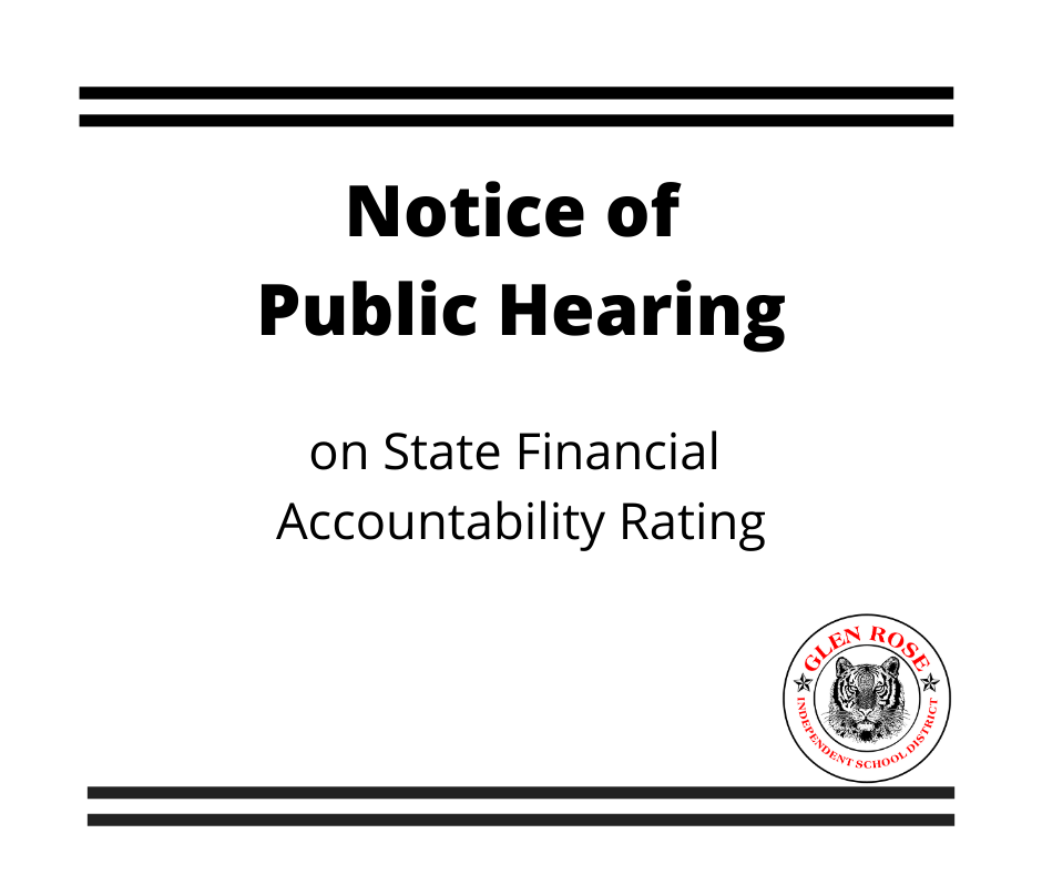 Notice of Public Hearing graphic